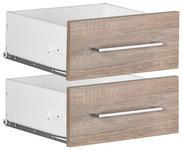 SCHUBKASTENEINSATZ Weiß, Trüffeleichefarben - Trüffeleichefarben/Weiß, Design (37,7/33,9/37cm) - Voleo