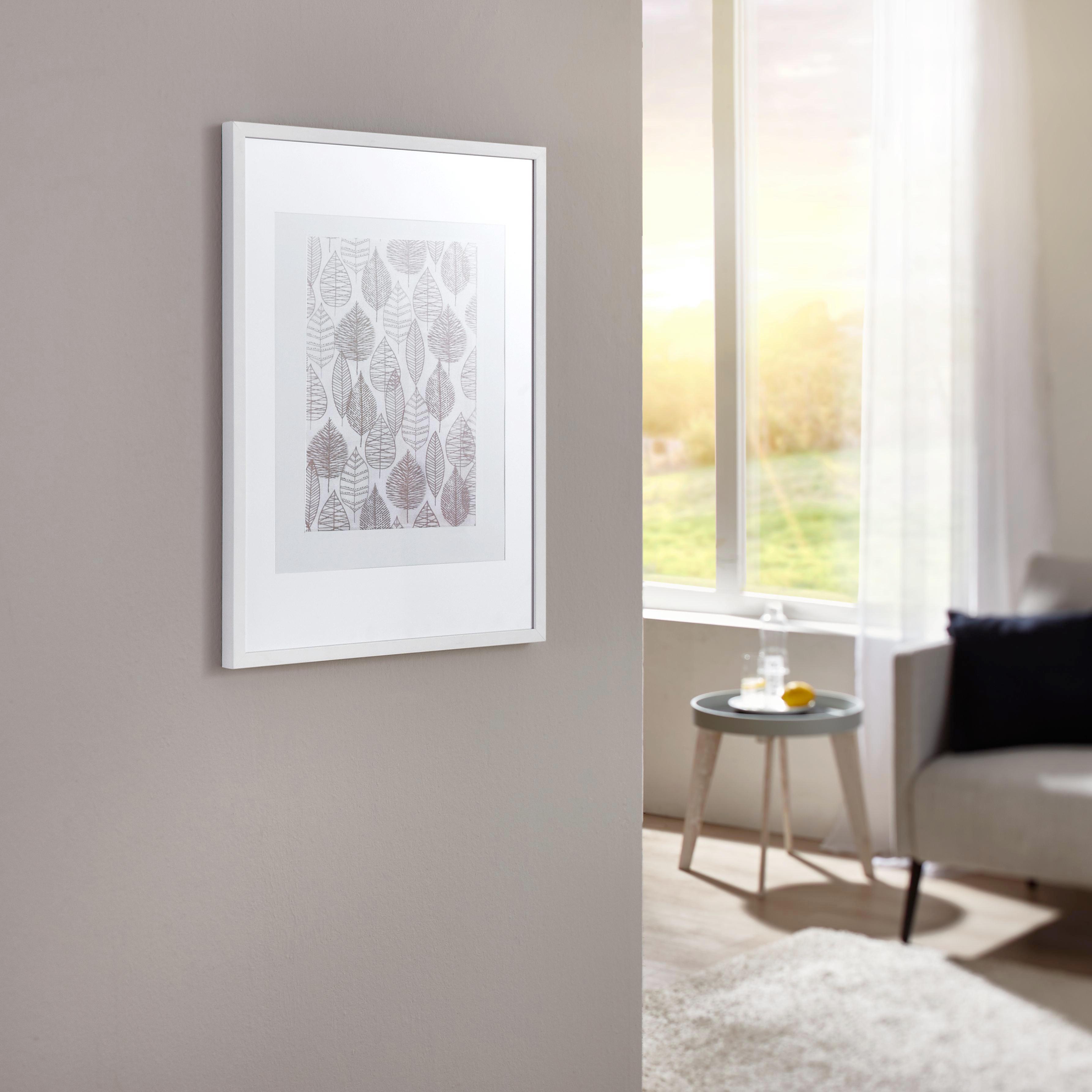 RÁM NA OBRAZY - bílá, Basics, dřevo/sklo (73/53/3cm)