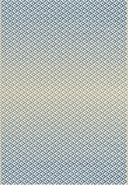 FLACHWEBETEPPICH  120/170 cm  Beige, Blau, Weiß - Blau/Beige, Design, Kunststoff/Textil (120/170cm) - Boxxx