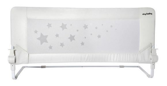 BETTSCHUTZGITTER 110/43 cm  - Weiß, Basics, Textil/Metall (110/43cm) - My Baby Lou