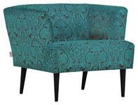 SESSEL in Textil Schwarz, Türkis  - Türkis/Schwarz, Design, Holz/Textil (85/71/80cm) - Carryhome