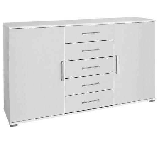 KOMMODE 149/86/37 cm - Chromfarben/Weiß, Design, Holzwerkstoff/Kunststoff (149/86/37cm) - Xora