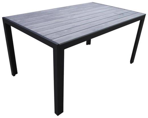 GARTENTISCH Kunststoff, Metall Grau, Silberfarben - Silberfarben/Grau, Basics, Kunststoff/Metall (150/90/78cm)