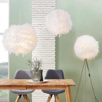 STEHLEUCHTE - Weiß/Nickelfarben, Design, Papier/Weitere Naturmaterialien (40/150cm) - BOXXX