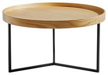 COUCHTISCH in Holz, Metall, Holzwerkstoff 78/78/42 cm   - Eichefarben/Schwarz, Trend, Holz/Holzwerkstoff (78/78/42cm) - Carryhome