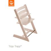 Tripp Trapp Hochstuhl Buche Hartholz, massiv Whitewash - Transparent/Weiß, Basics, Holz (46/79/49cm) - STOKKE