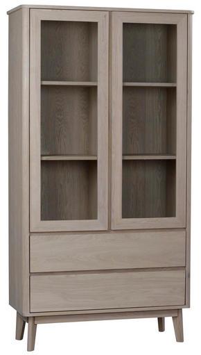 VITRINSKÅP - ekfärgad, Design, trä/träbaserade material (100/188/40cm) - Rowico