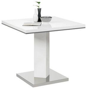 TRPEZARIJSKI STO - Siva/Bela, Dizajnerski, Metal/Pločasti materijal (80/80/76cm) - Carryhome