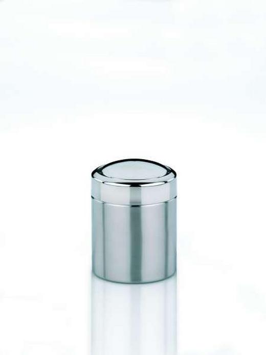 KOSMETIKEIMER - Silberfarben, Basics, Kunststoff/Metall (18/18,5cm)