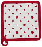 TOPFLAPPEN Rot, Weiß - Rot/Weiß, LIFESTYLE, Textil (17/28cm) - Landscape