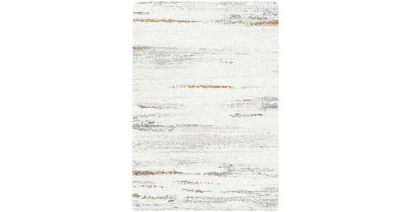 HOCHFLORTEPPICH  80/150 cm  gewebt  Grau, Honig, Weiß - Weiß/Grau, Basics, Textil (80/150cm) - Novel