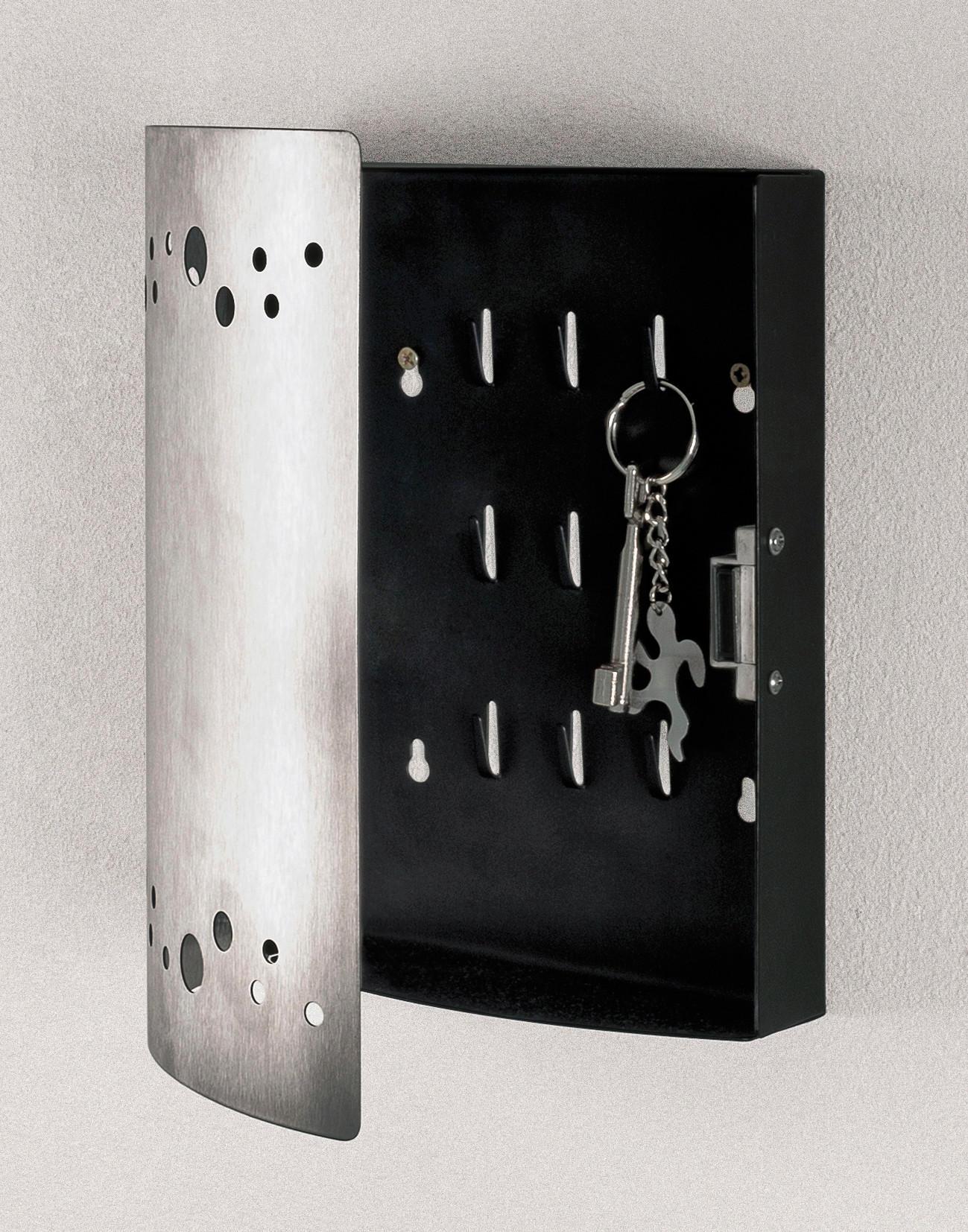 SCHLÜSSELKASTEN Edelstahlfarben - Edelstahlfarben, Design, Metall (21/25/7cm)
