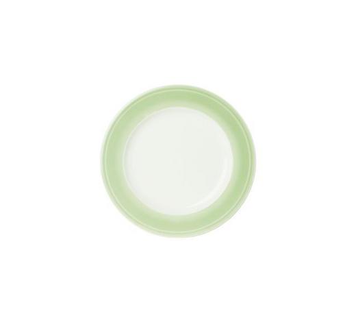 TALÍŘ DEZERTNÍ, porcelán - bílá/světle zelená, Design, keramika (22cm) - Novel