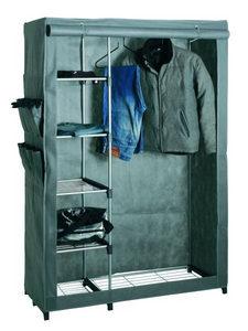 STALAK ZA ODEĆU - Boja aluminijuma/Siva, Dizajnerski, Tekstil/Plastika (116/173/50cm) - Boxxx