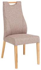 STUHL Eiche massiv Braun, Eichefarben - Eichefarben/Braun, Design, Holz/Textil (48/104/67cm) - VENDA