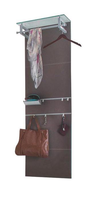 GARDEROBENPANEEL Braun - Braun, Design, Glas/Metall (59/192/30cm) - Cassando