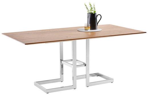 ESSTISCH in Holz, Metall - Edelstahlfarben/Eichefarben, Design, Holz/Metall (180/95/75cm) - Joop!