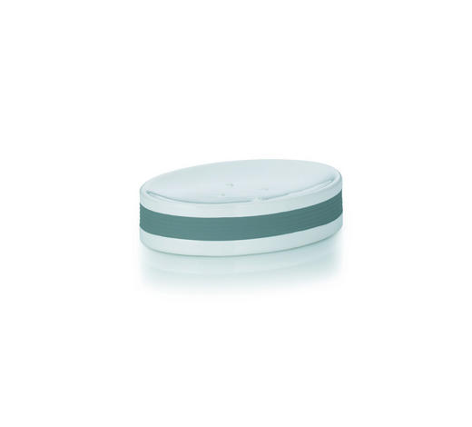 SEIFENSCHALE - Weiß/Grau, Basics, Keramik/Kunststoff (12,5/8,5/3cm) - Kela