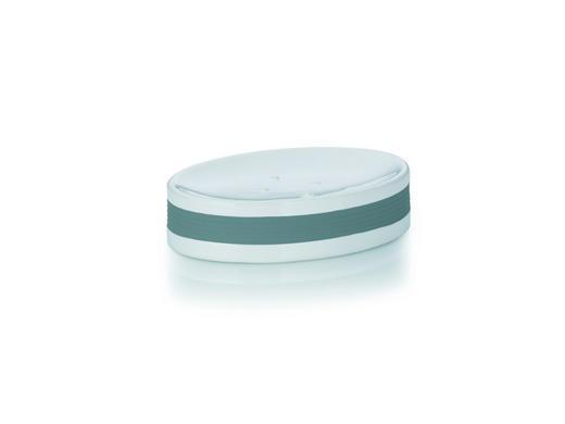 SEIFENSCHALE - Weiß/Grau, Basics, Keramik/Kunststoff (12,5/8,5/3cm)