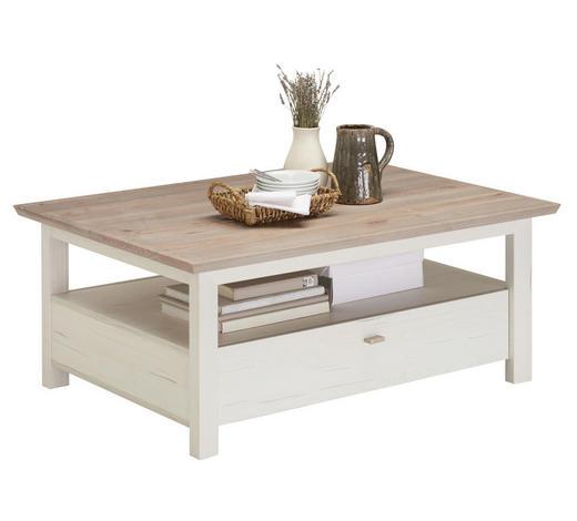 COUCHTISCH in Holzwerkstoff 110/80/45 cm - Weiß/Grau, LIFESTYLE, Holzwerkstoff (110/80/45cm) - Hom`in