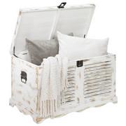 TRUHLA - bílá, Lifestyle, dřevo (75/45/45cm) - Ambia Home