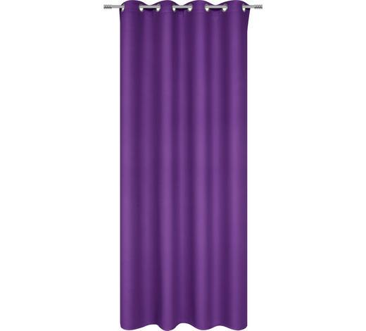 ZÁVĚS HOTOVÝ - fialová, Basics, textilie (140/245cm) - Esposa
