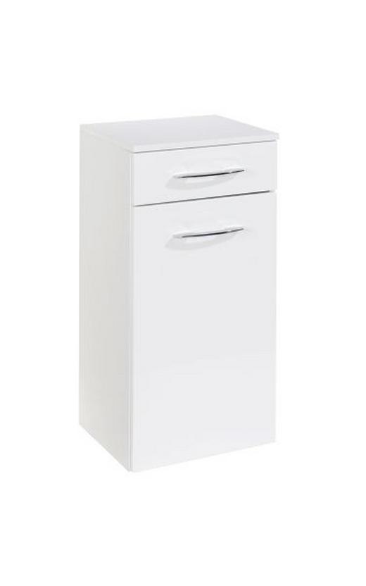 UNTERSCHRANK Weiß - Chromfarben/Weiß, KONVENTIONELL, Holzwerkstoff/Metall (40/79/35cm) - Xora