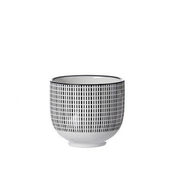 ŠÁLEK NA ČAJ - bílá/černá, Trend, keramika (0,150l) - Ritzenhoff Breker
