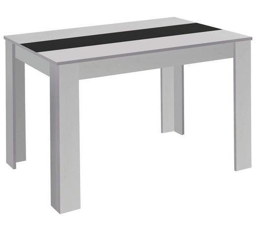 ESSTISCH rechteckig Schwarz, Weiß  - Schwarz/Weiß, MODERN (140/80/75cm) - Carryhome