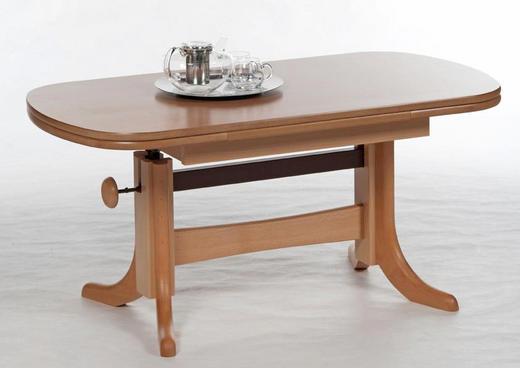 COUCHTISCH Buche furniert, massiv oval Buchefarben - Buchefarben, Design, Holz (120/65/56cm) - Carryhome