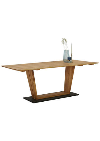 ESSTISCH in Holz, Holzwerkstoff 200/100/75 cm   - Eichefarben/Schwarz, Natur, Holz/Holzwerkstoff (200/100/75cm) - Dieter Knoll