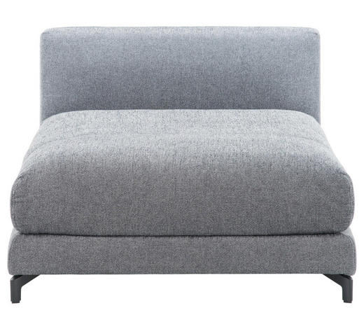 SOFAELEMENT Flachgewebe Grau  - Schwarz/Weiß, Design, Textil (105/72/152cm) - Rolf Benz