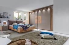 SCHLAFZIMMER in Grau, Eichefarben  - Eichefarben/Grau, Design, Holzwerkstoff/Textil (180/200cm) - Xora