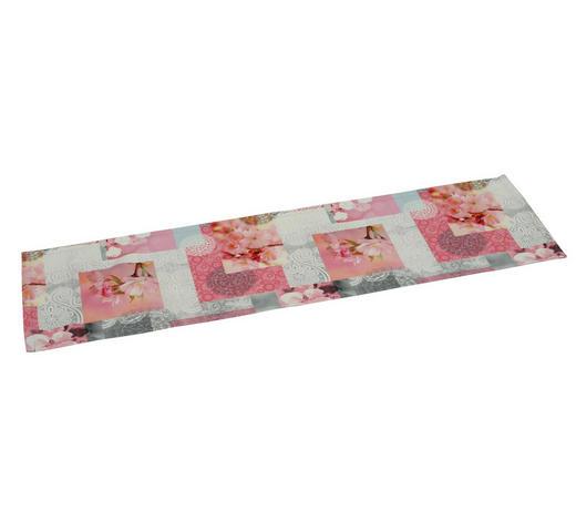 TISCHLÄUFER 40/140 cm - Rosa/Weiß, Design, Textil (40/140cm)