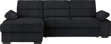 WOHNLANDSCHAFT in Textil Grau - Dunkelbraun/Grau, KONVENTIONELL, Kunststoff/Textil (166/258cm) - Cantus