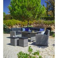 GARTENSET  22-teilig - Schwarz/Grau, Design, Glas/Kunststoff (194/248cm) - Ambia Garden