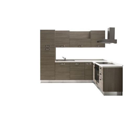 KUHINJSKI BLOK - bijela/boje hrasta, Moderno, drvni materijal (270/195cm) - Italstyle