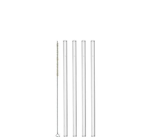 TRINKHALM - Transparent, Design, Glas (20cm) - Leonardo