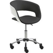 OTOČNÁ ŽIDLE - bílá/černá, Design, kov/textil (56/80-92/54cm) - Carryhome