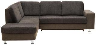 WOHNLANDSCHAFT in Textil Braun, Grau  - Chromfarben/Braun, KONVENTIONELL, Kunststoff/Textil (198/253cm) - Xora