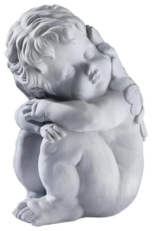 Gartenfigur Engel, Höhe 36 cm - Grau, Trend, Stein (25/20/36cm)
