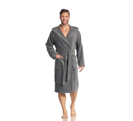 BADEMANTEL XS - Grau, Basics, Textil (XSnull) - Vossen
