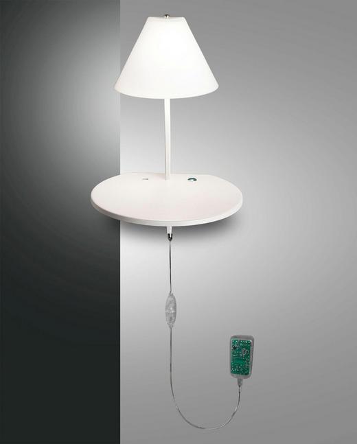 LED-WANDLEUCHTE - Weiß, KONVENTIONELL, Glas/Metall (30/47/25cm)