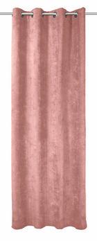 ZAVJESA S RINGOVIMA - svijetlo ružičasta, Konvencionalno, tekstil (135/245cm) - Esposa