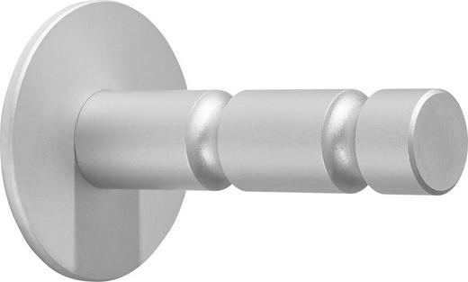 WANDHAKEN - Silberfarben, Design, Metall (7/11/7cm)