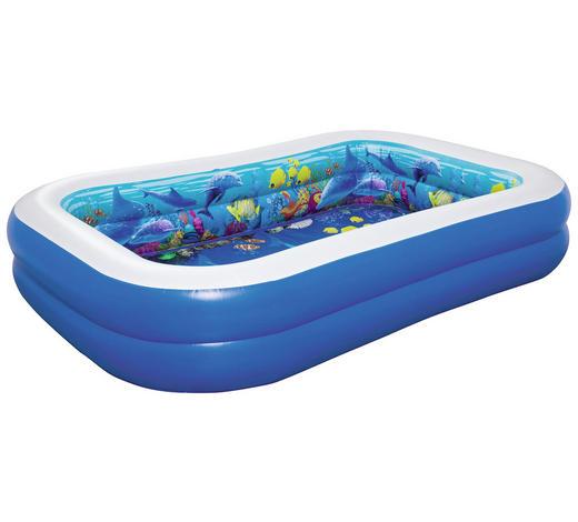 3D Pool mit 2 Schwimmbrillen Blau  - Blau, Basics, Kunststoff (262/175/51cm) - Bestway