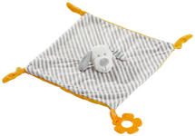 SCHMUSETUCH - Gelb/Weiß, Basics, Textil (28/28cm) - My Baby Lou
