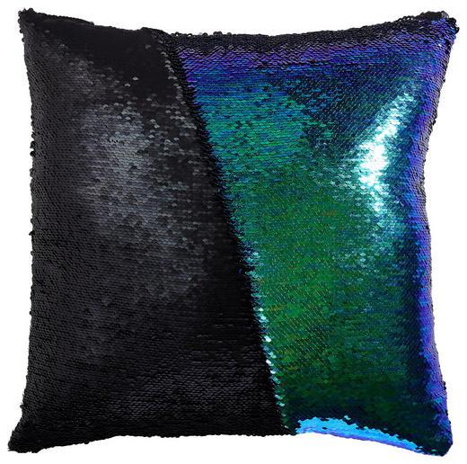 ZIERKISSEN 40/40 cm - Blau/Schwarz, Design, Kunststoff/Textil (40/40cm) - Novel