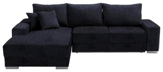 WOHNLANDSCHAFT in Textil Blau - Blau/Silberfarben, Design, Kunststoff/Textil (196 276 cm) - Cantus