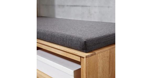 GARDEROBENBANK 90/45/42 cm - Eichefarben/Grau, Natur, Holz/Textil (90/45/42cm) - Valnatura